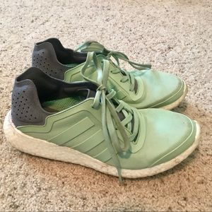 Mint green and grey Adidas ultra boost in size 7